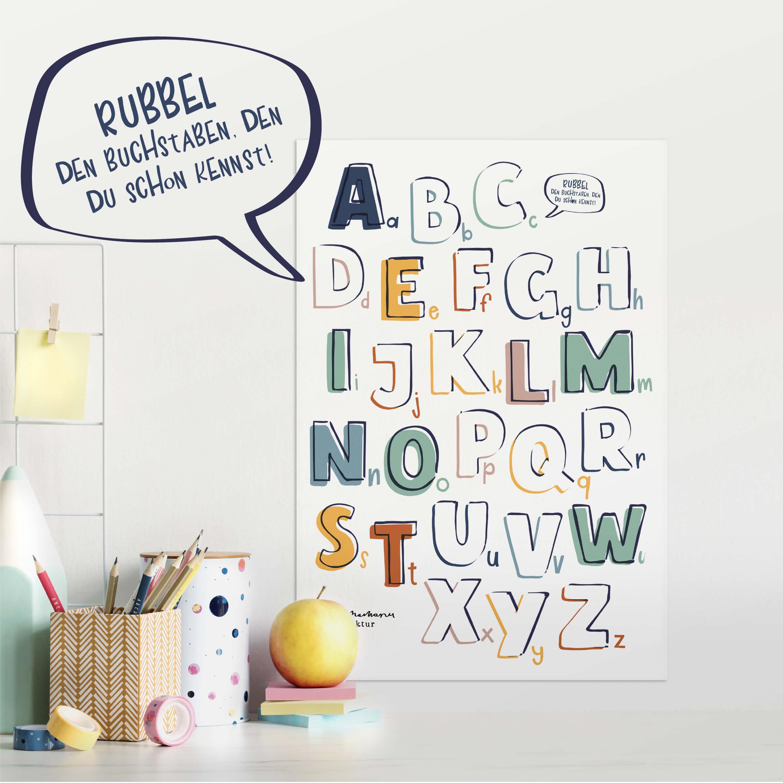 Rubbel Abc Poster mit Schreibtisch